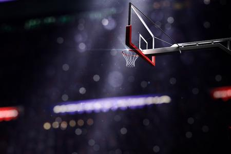 Basketballplatz. Sport-Arena. 3d übertragen Hintergrund. unfocus in Totalen Abstand Lizenzfreie Bilder