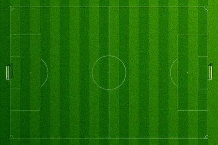 cancha de futbol: Campo de fútbol vacío textura de la hierba en el día