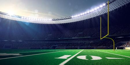 floodlit: Football Arena Stadium Day render blue toning Stock Photo