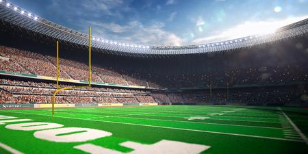 campo calcio: Football Arena Stadio Day rende tonalità blu