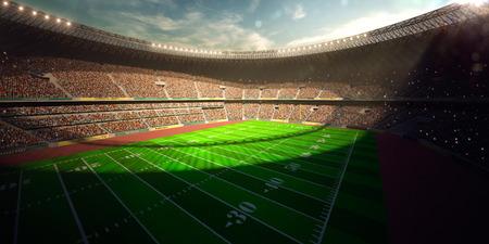 Fußball-Arena-Stadion Tag Meisterschaft zu gewinnen. Gelb