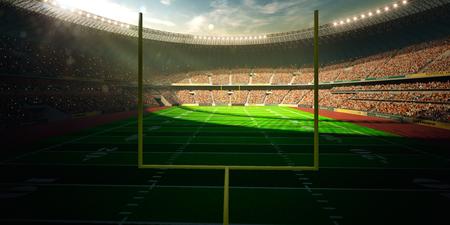 Football Arena Stadium Day championship win. yellow Standard-Bild