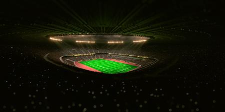 arena: Night stadium arena football field 3d render unfocus background