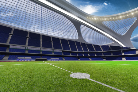 3d render emptry hi-tech stadium evening without people day