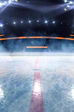 Hockey ice rink sport arena empty field Reklamní fotografie