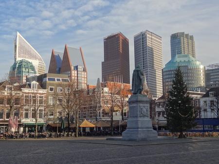 plein: Den Haag Skyline