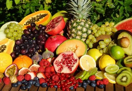 naranja fruta: Mezcla de frutas tropicales
