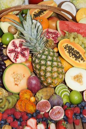 Tropical fruit mix photo