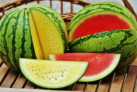 halved  half: Watermelons