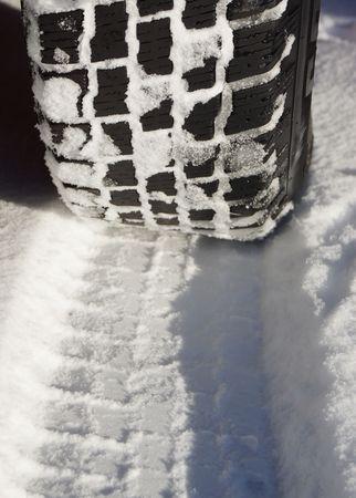 Winter tires Stock Photo
