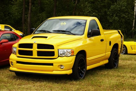 Dodge Ram in a car meeting in Germany