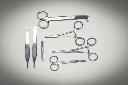 obstetrician: Various scissors and tweezers