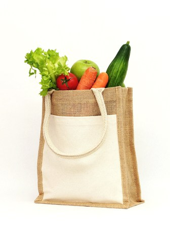 Organic fruit and vegetables Stock Photo