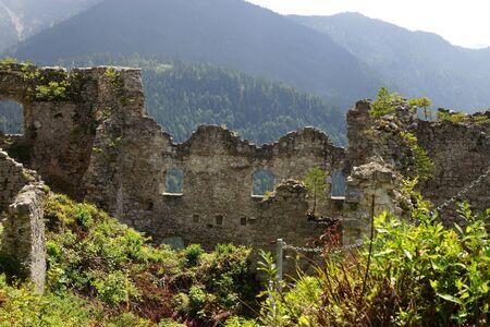 ghost rock: Castle Ruin Ehrenberg in Reutte Austria