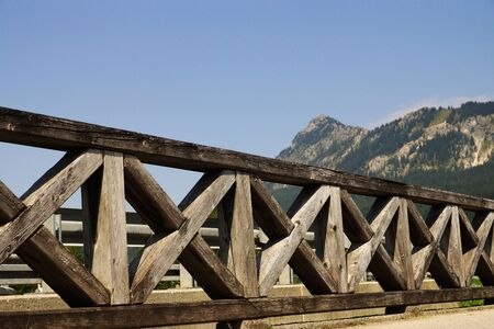 tyrolean: Wooden fence in the Tyrolean Alps