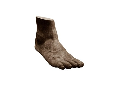 bodypart: Big foot on a white background