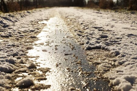 Icy road Stock fotó