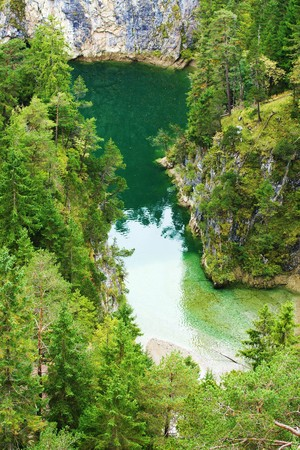 tyrolean: Mountain lake in the Tyrolean Alps in summer Stock Photo
