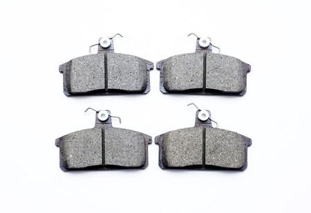 New brake pads on a white background