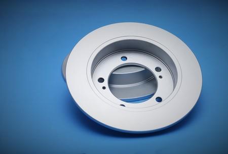 discs: New brake discs on a blue background