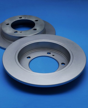 device disc: New brake discs on a blue background