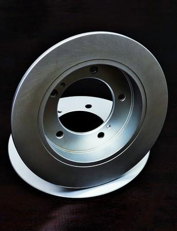 discs: New brake discs on black background