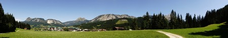 width: Panoramic Picture Of The Tyrolean Alps