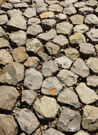cried: Stones of a dike Stock Photo