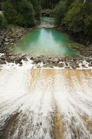Hydroelectric Power Plant IN The Tyrolean Alps