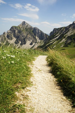 Mountain trail in the Tyrolean Alps