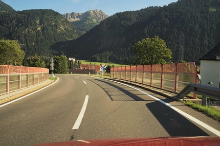 Road in the Tyrolean Alps Stock Photo