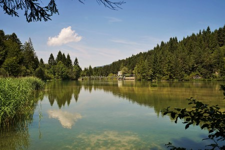Artificial lake in the Tyrolean Alps