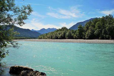 The Lech river In Austria