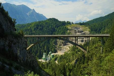 Gemstobel Bridge in the Tyrolean Alps