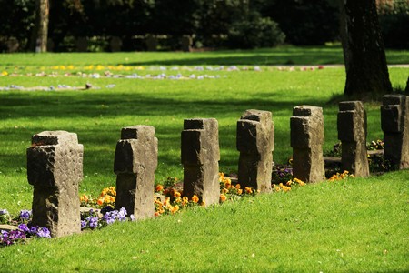 Graves on a cemetery