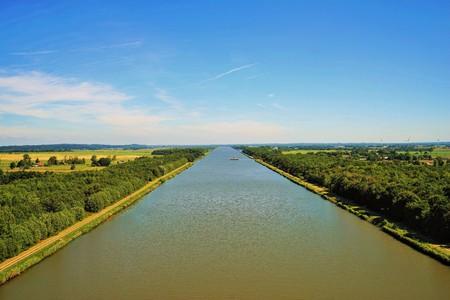 Der Kieler Kanal Standard-Bild