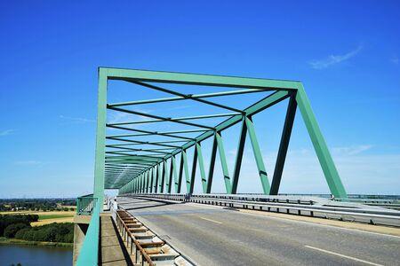 High bridge over the Kiel Canal, Schleswig Holstein Germany