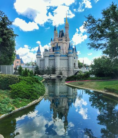 Cinderella castle in Magic Kingdom at Walt Disney World Resort, Florida, United States Editorial