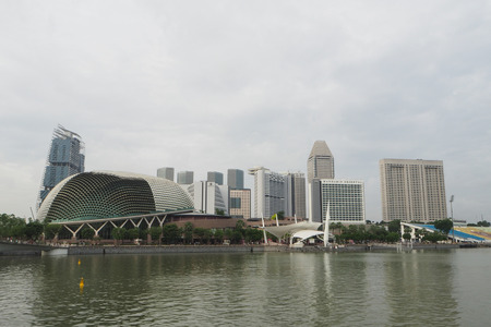 View of Esplanade, Theatres on the Bay in Downtown Core, Singapore Editorial