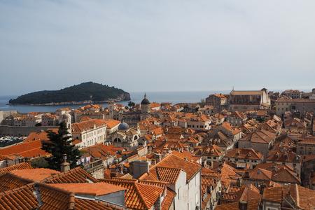 City view of Old Town Dubrovnik in Dalmatia, Croatia