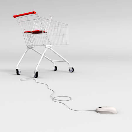 mouse controlled shopping cart photo