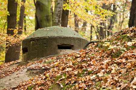 fortification: Old bunker. Part of Polish coast fortification. Station for the heavy machine gun.
