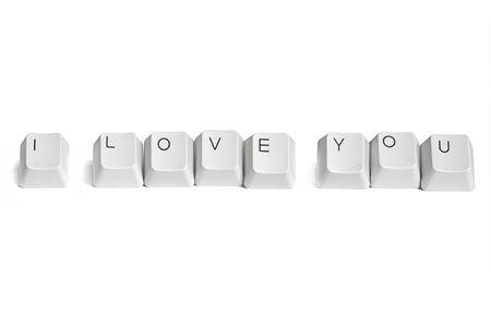 I love you computer key