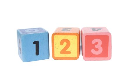 play blocks: play blocks with 123 numbers