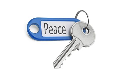 the key to peace on a white background