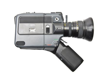 8 mm camera on a white background
