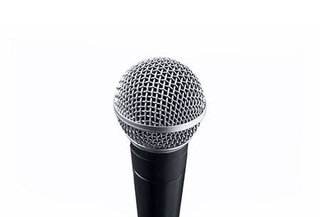 A prof black microphone on white background  Stock Photo
