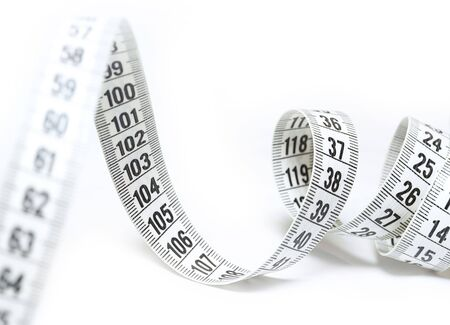 Tape Measure on white background