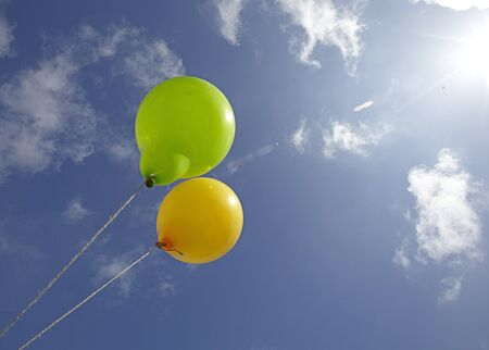 balloons in the skies Stock Photo