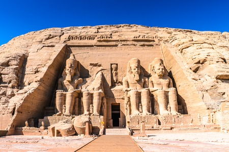 The Great Temple of Ramesses II, Abu Simbel, Egypt Banco de Imagens - 61673888